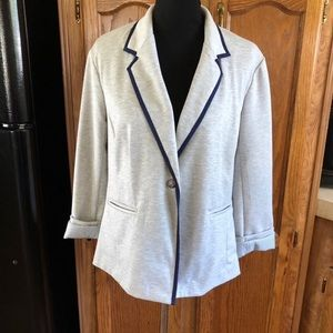 Grey Knit Blazer by Company Ellen Tracy Large